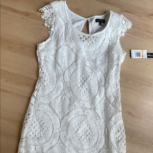 NWT Sequin Hearts Brand White Lace Dress